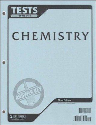 Chemistry Tests Answer Key  by  BJU Press