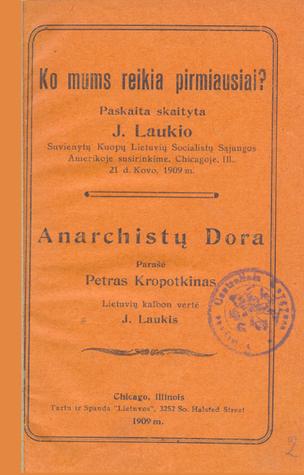 Anarchistų dora  by  Pyotr Kropotkin