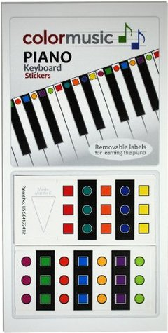 ColorMusic Piano Keyboard Stickers  by  Mike George