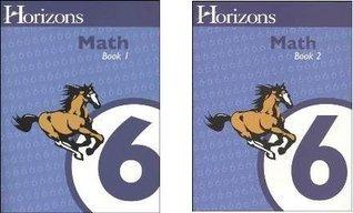 Horizons Math 6 SET of 2 Student Workbooks 6-1 and 6-2 Alpha Omega