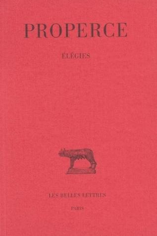 Elegies  by  Propertius