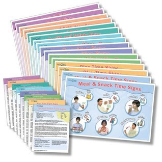 Sign2Me Early Learning Reminder Series Laminated Placemats/Posters (English/Spanish/ASL)  by  Sign2Me Early Learning