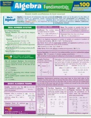 Algebra Fundamentals Quizzer  by  Inc. BarCharts