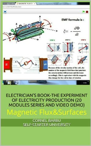 ELECTRICIANS BOOK-THE EXPERIMENT OF ELECTRICITY PRODUCTION (20 MODULES SERIES AND VIDEO DEMO)Magnetic Flux & Surfaces  by  Cornel Barbu