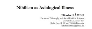 Axiologische Unangemessenheiten -- Beitrage Zur Kulturphilosophie Nicolae Rambu