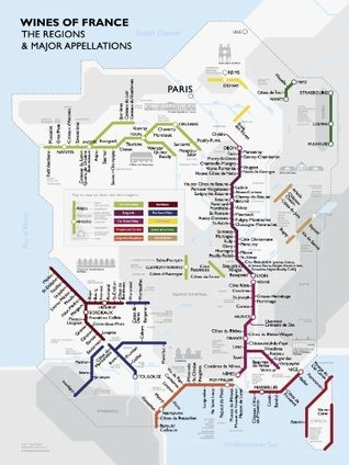 Metro Wine Map of France  by  David Gissen
