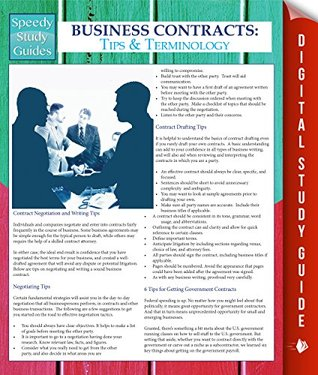 Business Contracts: Tips And Terminology Speedy Publishing