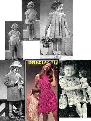 Crochet Vintage Little Girl Dresses - Crochet Toddler and Little Girl Dresses  by  Bookdrawer