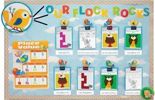 Chevron Math Skills Bulletin Board Set  by  Carson-Dellosa Publishing
