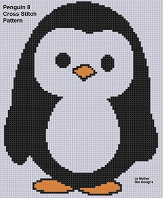 Penguin 8 Cross Stitch Pattern NOT A BOOK