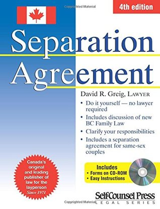 Separation Agreement  by  David R. Greig