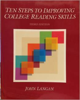 Ten Steps to Improving College Reading Skills (Townsend Press reading series) John Langan