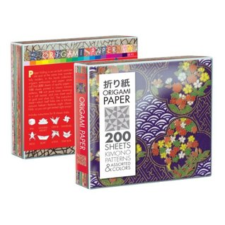Origami Paper, 200 Kimono Patterns and Jewel-Toned Solids Rob Wall