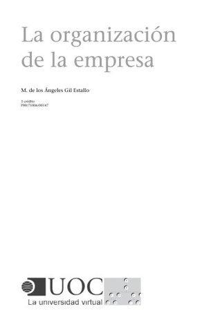 La organización de la empresa M. de los Ángeles Gil Estallo