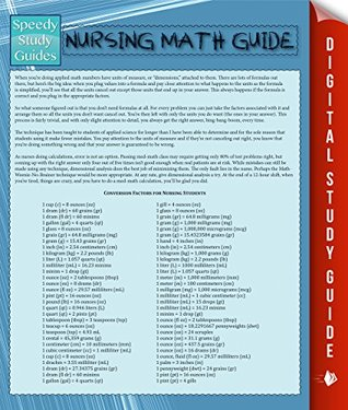 Nursing Math Guide Speedy Publishing