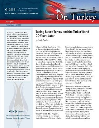 Taking Stock: Turkey and the Turkic World 20 Years Later  by  Nadir Devlet