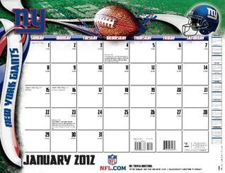 2012 NEW YORK GIANTS 22X17 DESK CALENDAR  by  Perfect Timing - Turner