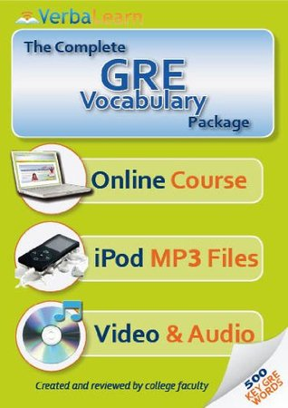 The Complete GRE Vocabulary Package: 500 Key Words, Online Course, iPod MP3s, Audio & Video  by  VerbaLearn