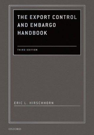 Export Control Handbook Eric L. Hirschhorn