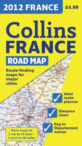 2012 Collins France Road Map  by  Collins UK