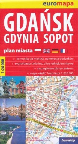 Gdansk, Gdynia, Sopot (Poland) 1:26,000 Large Street Map  by  ExpressMap
