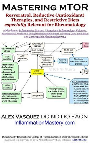Mastering mTOR: Resveratrol, Reductive (Antioxidant) Therapies, and Restrictive Diets especially Relevant for Rheumatology: Addendum to Functional Inflammology, ... Rheumatology v3.5 (Inflammation Mastery)  by  Alex Vasquez