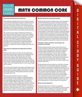 Math Common Core Speedy Publishing