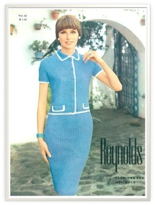 #0146 BENALMADENA DRESS VINTAGE KNITTING PATTERN  by  Princess of Patterns