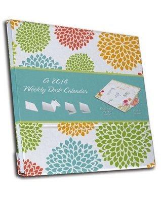 Brights 2014 Weekly Desk Pad Calendar NOT A BOOK