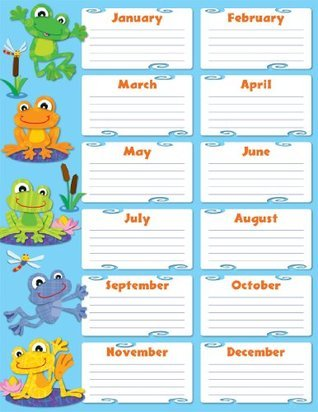 Carson Dellosa Funky Frogs Birthday Chart (114189)  by  Carson-Dellosa Publishing