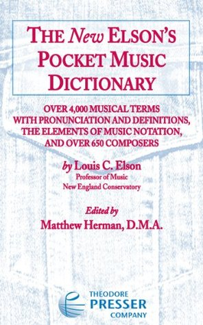 The New Elson's Pocket Dictionary  by  Louis C Elson