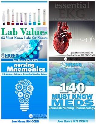 Nursing School Study Pack (Drug Reference, Labs, Mnemonics, EKG) 4 best selling books for nursing students  by  Jon Haws