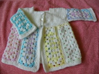 Oblong Granny Matinee Coat  by  Tracey Ann Shears