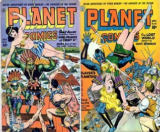 Planet Comics. Issues 31 and 32. Weird adventures on other worlds. The universe of the future. Gale Allen battles space terror in Fire Priests of Orbit X. Mars God of War and the Lost World.  by  Golden Age Scifi Comics