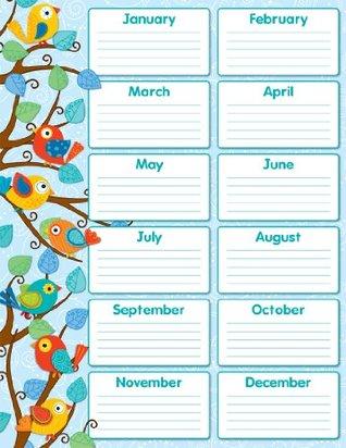 Carson Dellosa Boho Birds Birthday Chart (114187)  by  Carson-Dellosa Publishing