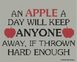Apple A Day Cross Stitch Pattern Mother Bee Designs