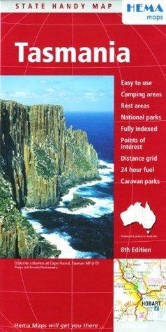 Tasmania, Handy Map includes Hobart Hema