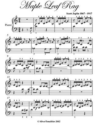 Maple Leaf Rag Scott Joplin Beginner Piano Sheet Music Scott Joplin