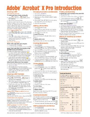 Adobe Acrobat X Introduction Quick Reference Guide  by  Beezix, Inc.
