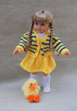 Easter Parade Knitting Pattern for 18 Inch dolls Ase Bence