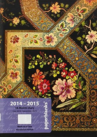 Filigree Floral Ebony - Midi 18-month Academic Weekly Planner, July 2014 to December 2015 (5 X 7)  by  Paperblanks