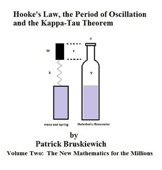 Hookes Law, the Period of Oscillation and the Kappa-Tau Theorem (The New Mathematics for the Millions Book 2) Patrick Bruskiewich