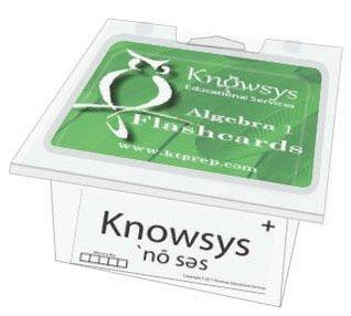 Knowsys Basic Genius Math Flashcards: Algebra I Knowsys Educational Services LLC