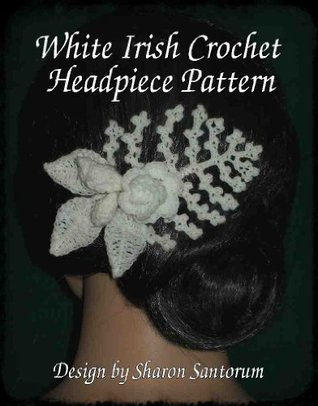 White Irish Crochet Headpiece Pattern  by  Sharon Santorum