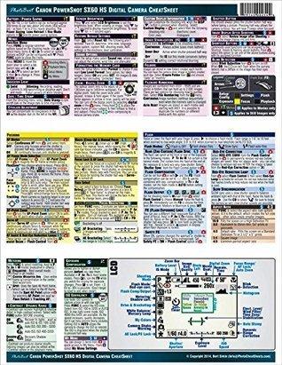 Canon Powershot SX60 HS CheatSheet (short version, laminated, instruction manual for SX60HS)) Bert Sirkin