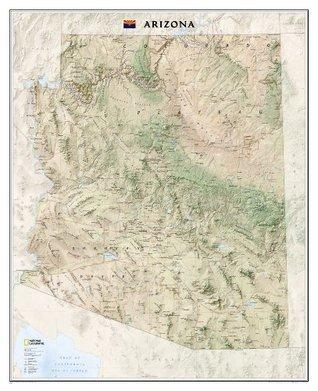 Arizona [Laminated] National Geographic Maps - Reference