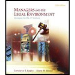 Study Guide for Bagley/Savages Managers and the Legal Environment: Strategies for the 21st Century, 5th  by  Constance E. Bagley