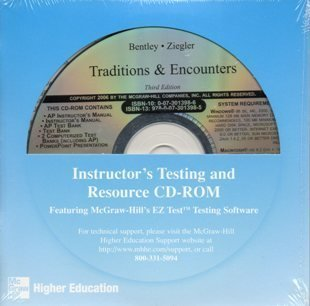Mcgraw Hill Traditions and Encounters Instuctors Testing and Resource CD ROM  by  Bentley Ziegler