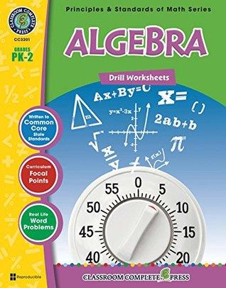 Algebra: Drill Sheets Gr. PK-2 Nat Reed