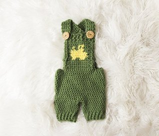 Tractor Overalls Crochet Pattern - All Sizes Newborn Baby through 1-2 Year Toddler Included  by  Melody Rogers